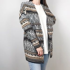 Old Navy Oversized Aztec Boho Cardigan M